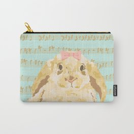 Bunny Composition (gold/mint) Carry-All Pouch