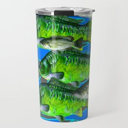 MODERN ART DECORATIVE GREEN FISH AQUATIC Travel Mug