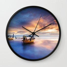 Ao nang beach at sunrise Wall Clock
