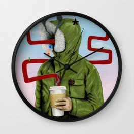 Caffeine Boost Wall Clock