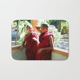 Laughter at th Monastey, Myanmar Bath Mat