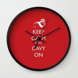 Keep Calm Cavy On Wall Clock