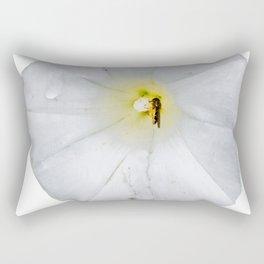 White flower Rectangular Pillow