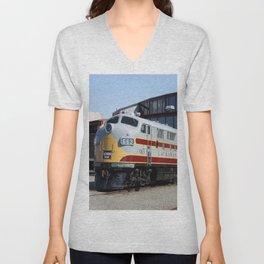 Engine 664 Lakawanna Railroad Unisex V-Neck
