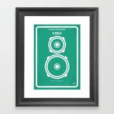 No491 My 8 Mile minimal movie poster Framed Art Print