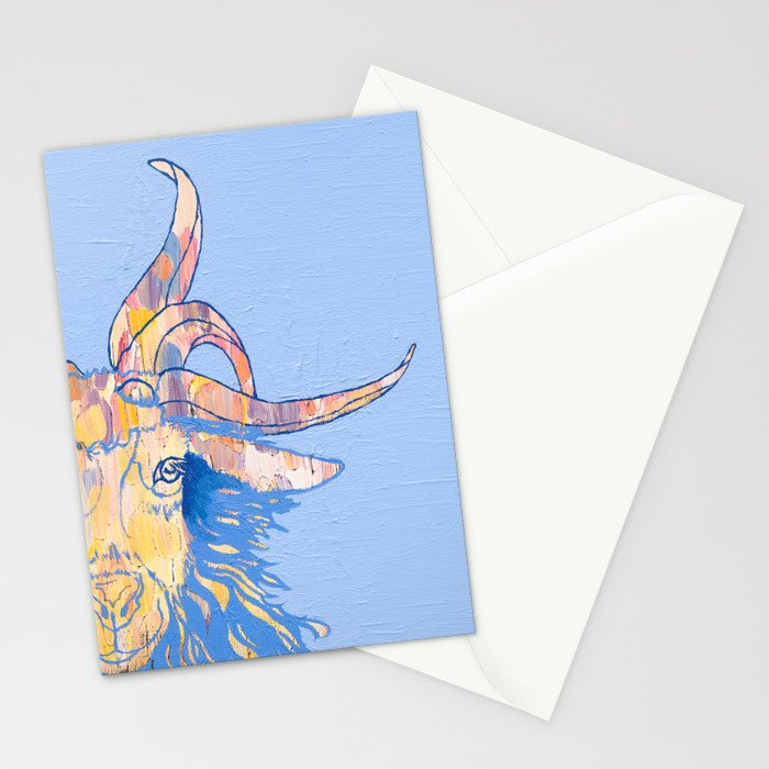 5-horned Goat Stationery Cards