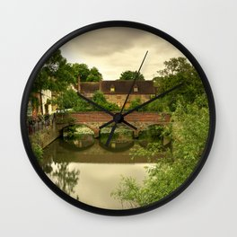 Abingdon Bridge reflects Wall Clock