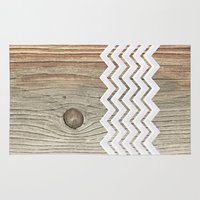 woody Area & Throw Rugs featuring WOODY by Monika Strigel