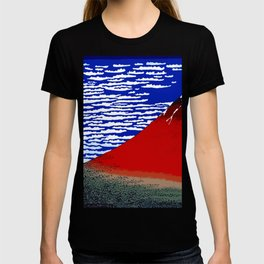 Colorful Fine Wind, Clear Morning Mount Fuji Japan T-shirt