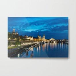 Dresden After Dark Metal Print
