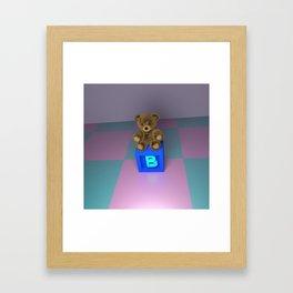 B Bear Block Framed Art Print