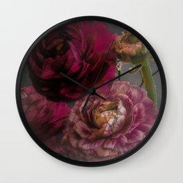 Ranunculus and Romance Wall Clock