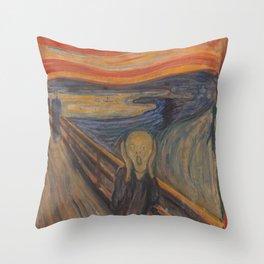 Original The Scream by Edvard Munch Throw Pillow