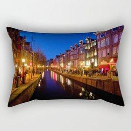 Red Lights Rectangular Pillow
