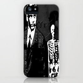 Dr. Hughes And The Skeleton In His Classroom iPhone Case