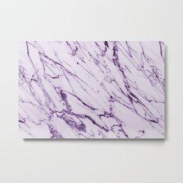 Violet Marble Design Metal Print