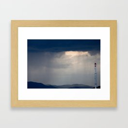 Here comes the rain Framed Art Print
