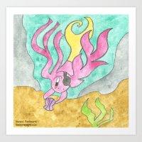 Shell Diving Art Print