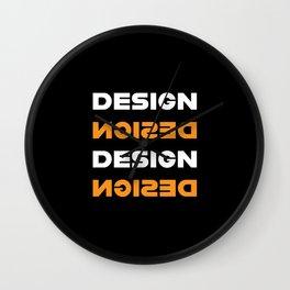 Design (Orange) Wall Clock