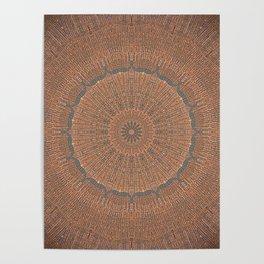 Tree Growth Ring Mandala Poster