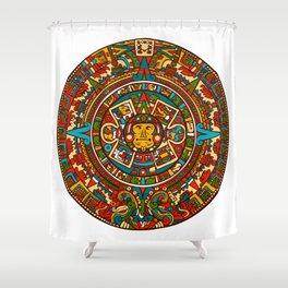 Aztec Mythology Calendar Shower Curtain