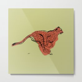 "Cheetah during the chase, from ""Africa"" series Metal Print"