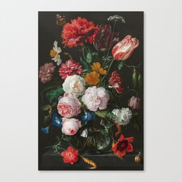 Still Life with Flowers by Jan Davidsz. de Heem Canvas Print