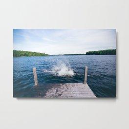 Lake Splash Metal Print