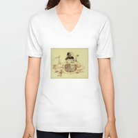 submarine V-neck T-shirts featuring FIRST SUBMARINE by Art of Michael J. Cincotta