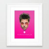 tyler durden Framed Art Prints featuring Tyler Durden by Faaaces