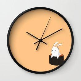 Bunny loves sushi Wall Clock