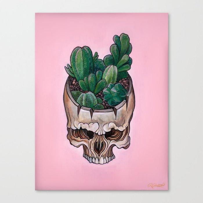 Cactus Skull Canvas Print