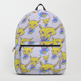 Neon Wolf Pattern Backpack