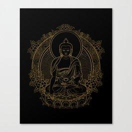 Buddha on Black Canvas Print