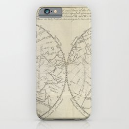 A map of the Earth, from Astronomy explained upon Sir Isaac Newton's principles (1770) iPhone Case