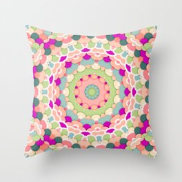 Scale Mandala Throw Pillow