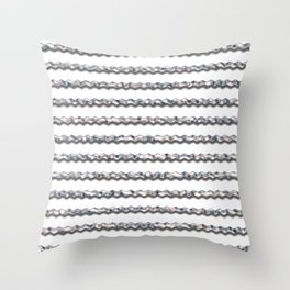 Metal Wiggly Line Pattern Throw Pillow