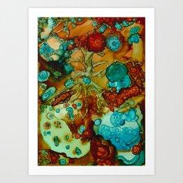 flora beginnings Abstract Art Print