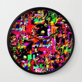 Glitchy itchy 1 Wall Clock