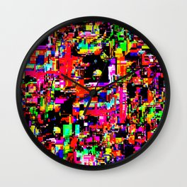 Glitchy itchy 1 Wall Clock