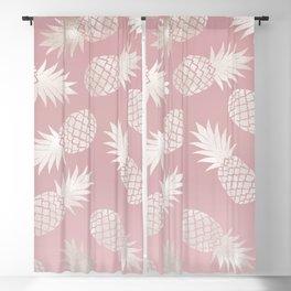 Blush Pineapple Pattern Blackout Curtain