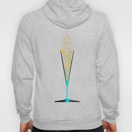 V Shaped Champagne Glasses Hoody