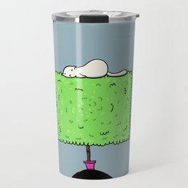 Cat on a bush Travel Mug