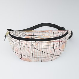 Vancouver Canada  Street Map Green Planet Fanny Pack