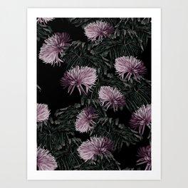 Night Floral Art Print
