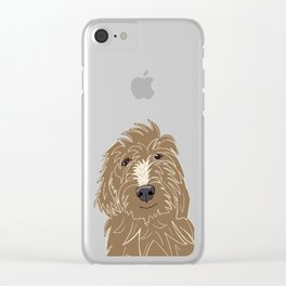 A doodle of a Golden Doodle Clear iPhone Case