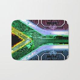 circuit board South Africa (Flag) Bath Mat