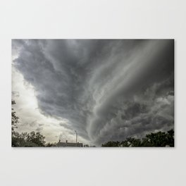 Cloud Wall Turning Canvas Print