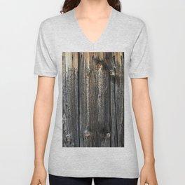 Old Weathered Wood Texture Unisex V-Neck