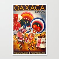 mexico Canvas Prints featuring MEXICO by Kathead Tarot/David Rivera